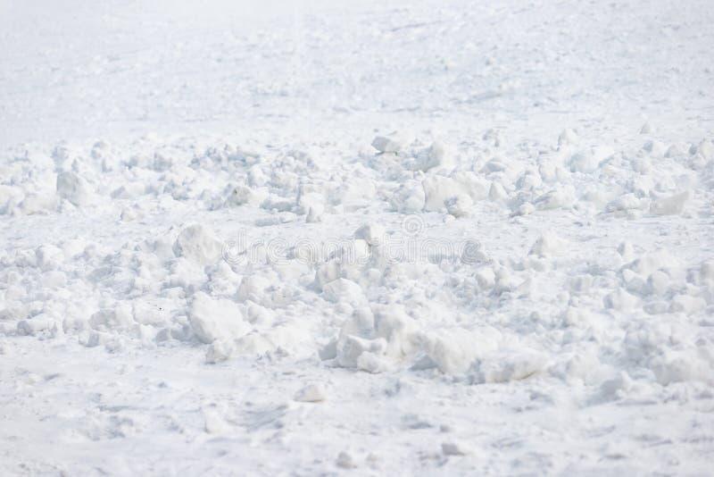 Τραχιά σύσταση σχεδίων χιονιού της χιονοστιβάδας προς τα κάτω στοκ φωτογραφία με δικαίωμα ελεύθερης χρήσης