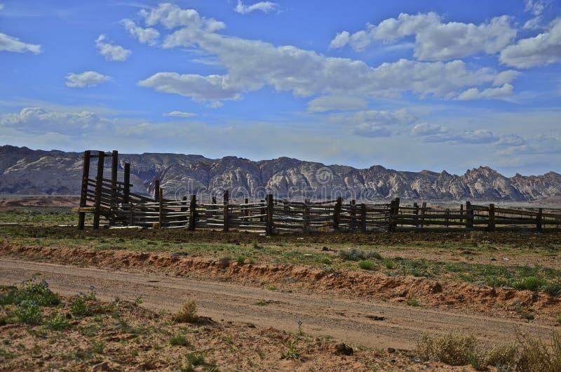 Τραχύς δυτικός συγκεντρώνει και η σειρά βουνών στοκ φωτογραφία