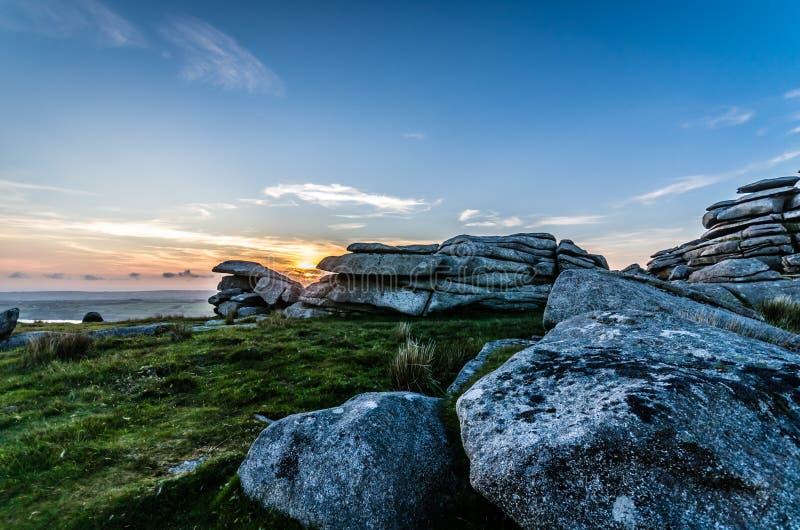 Τραχύ ηλιοβασίλεμα σκαπανών στοκ εικόνες με δικαίωμα ελεύθερης χρήσης