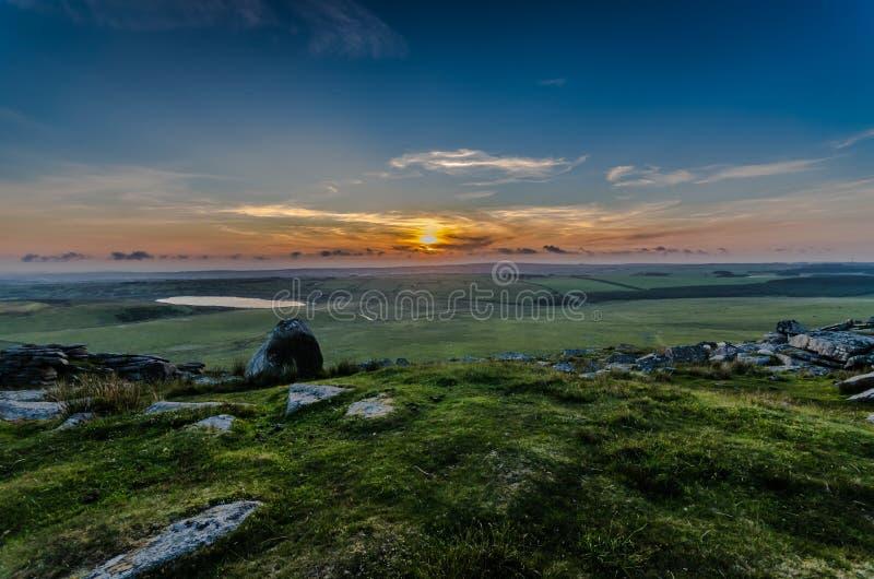 Τραχύ ηλιοβασίλεμα σκαπανών στοκ εικόνα με δικαίωμα ελεύθερης χρήσης