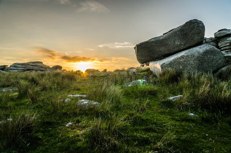 Τραχύ ηλιοβασίλεμα σκαπανών στοκ φωτογραφίες