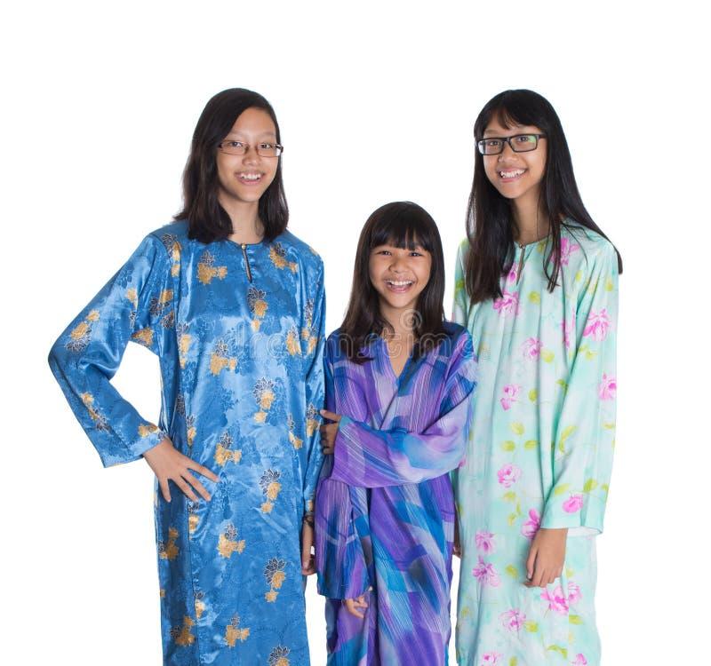 Τρεις ασιατικές της Μαλαισίας εφηβικές αδελφές VII στοκ εικόνα με δικαίωμα ελεύθερης χρήσης