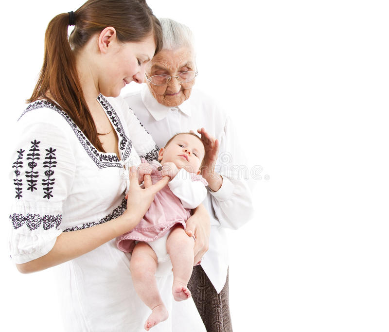 Τρεις γενεές στοκ εικόνα με δικαίωμα ελεύθερης χρήσης