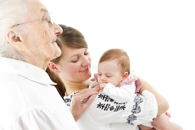 Τρεις γενεές στοκ εικόνα