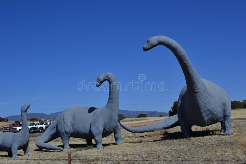 Τρεις γκρίζοι δεινόσαυροι στο Νέο Μεξικό στοκ φωτογραφία με δικαίωμα ελεύθερης χρήσης