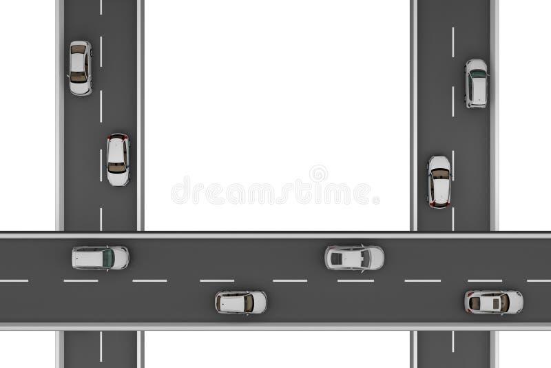 Τρεις δρόμοι κάθετα στα διαφορετικά ύψη ελεύθερη απεικόνιση δικαιώματος