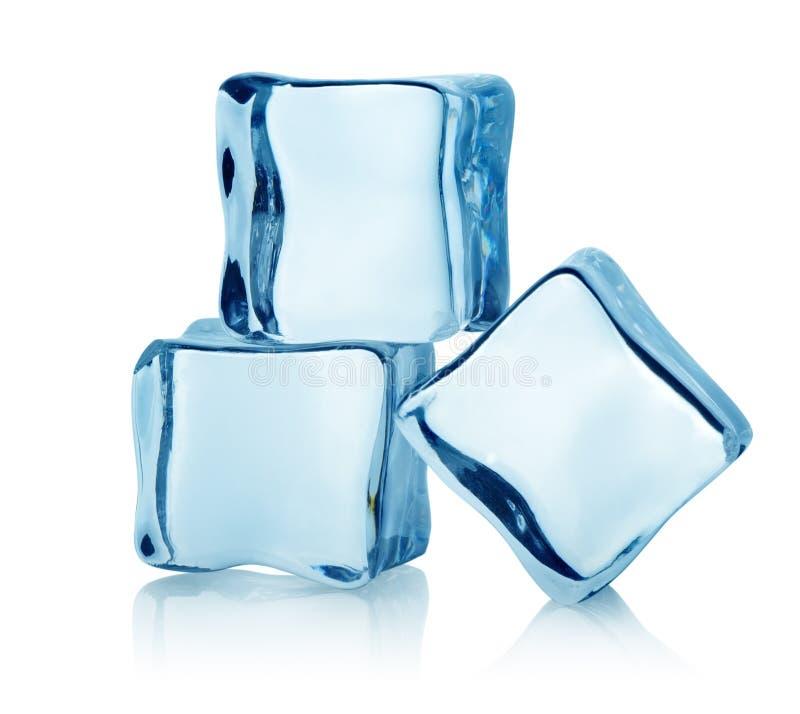 Τρεις κύβοι πάγου στοκ εικόνες με δικαίωμα ελεύθερης χρήσης
