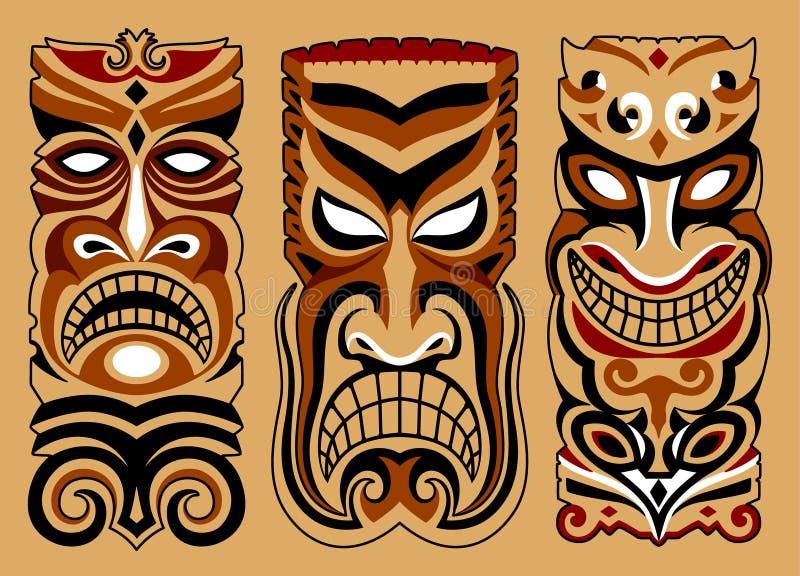 Τρεις μάσκες διανυσματική απεικόνιση