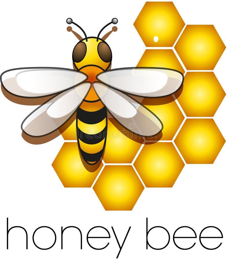 Τρεις μέλισσες σε μια κυψέλη απεικόνιση αποθεμάτων