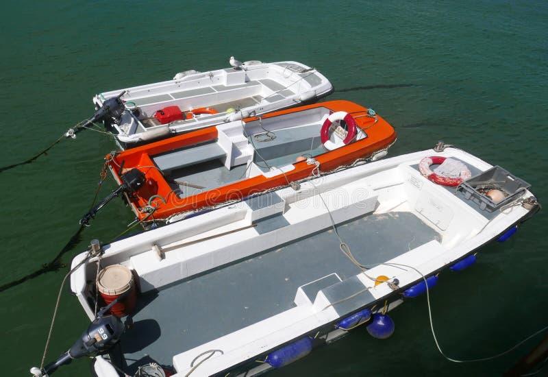 Τρεις μικρές βάρκες στοκ φωτογραφία με δικαίωμα ελεύθερης χρήσης