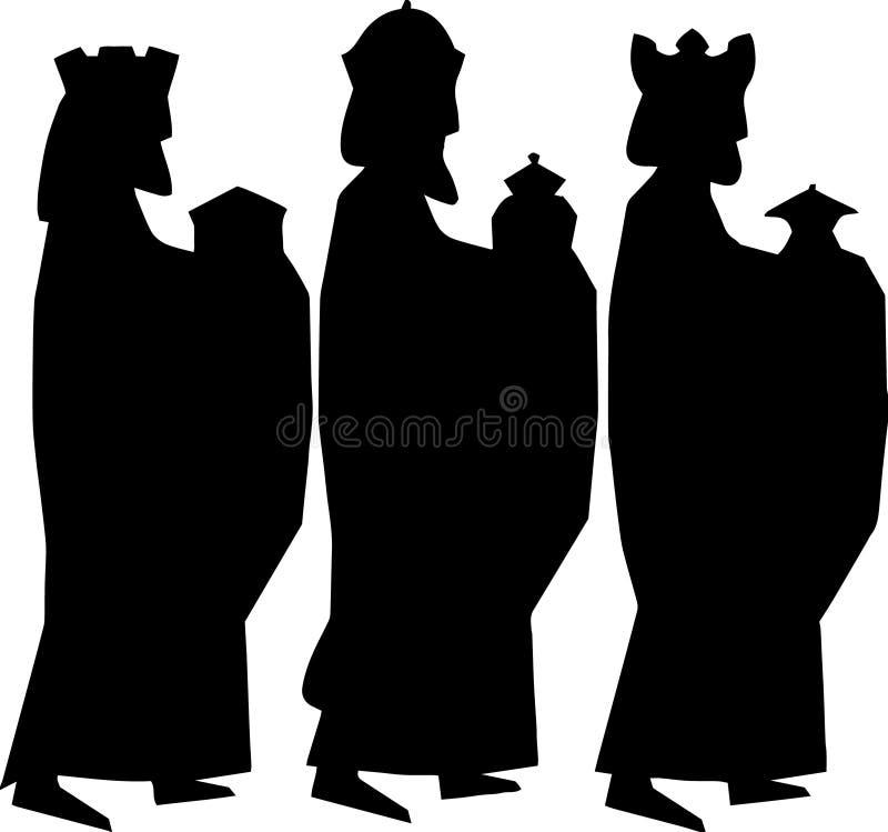 τρεις σοφοί άνθρωποι ή τρεις βασιλιάδες Απεικόνιση Nativity απεικόνιση αποθεμάτων