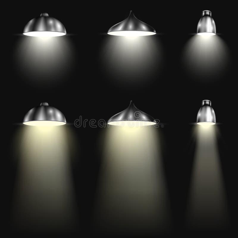 Τρεις τύποι επικέντρων με τις ακτίνες διανυσματική απεικόνιση