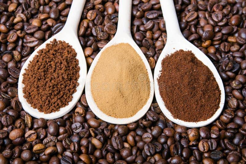 Τρεις τύποι coffe στοκ εικόνες με δικαίωμα ελεύθερης χρήσης