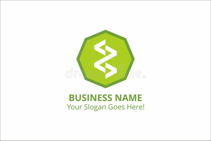 Τρεκλίσματος επιχειρησιακών προτύπων διανυσματικός πόρος χρώματος λογότυπων πράσινος διανυσματική απεικόνιση