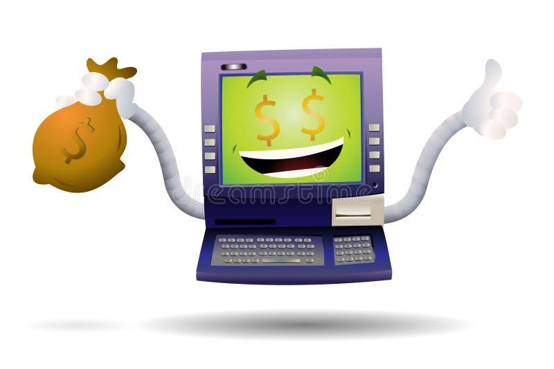 τρελλή μηχανή του ATM ελεύθερη απεικόνιση δικαιώματος