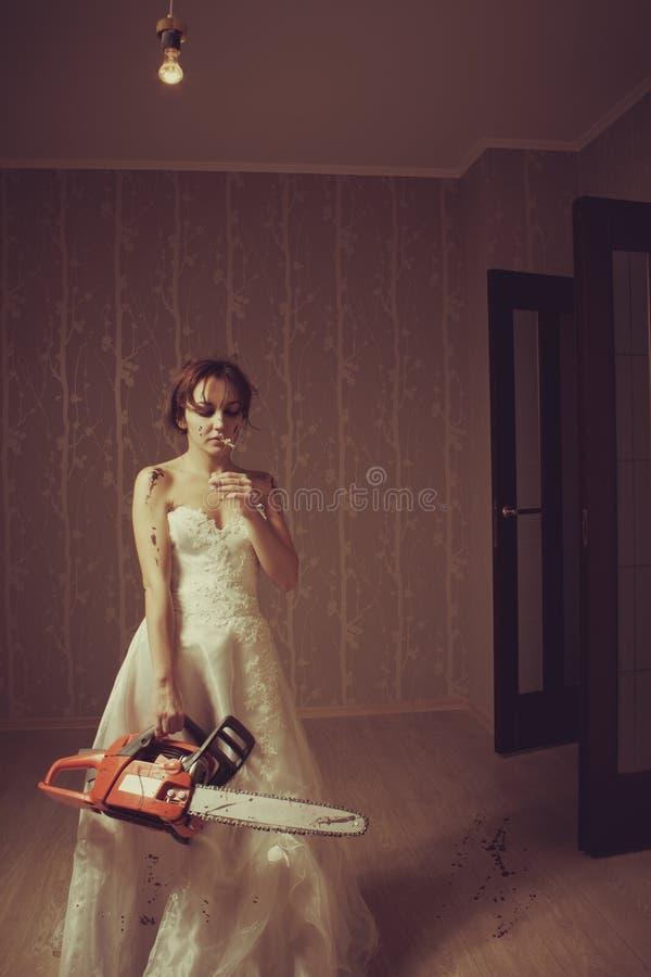 Τρελλή νύφη στοκ εικόνα