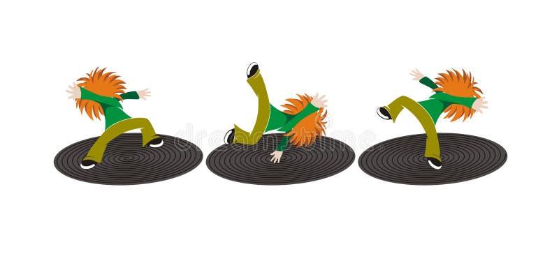 τρελλοί χορευτές απεικόνιση αποθεμάτων
