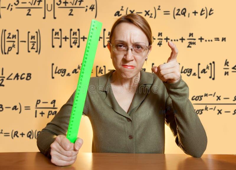 τρελλός θηλυκός δάσκαλ&o στοκ φωτογραφία με δικαίωμα ελεύθερης χρήσης