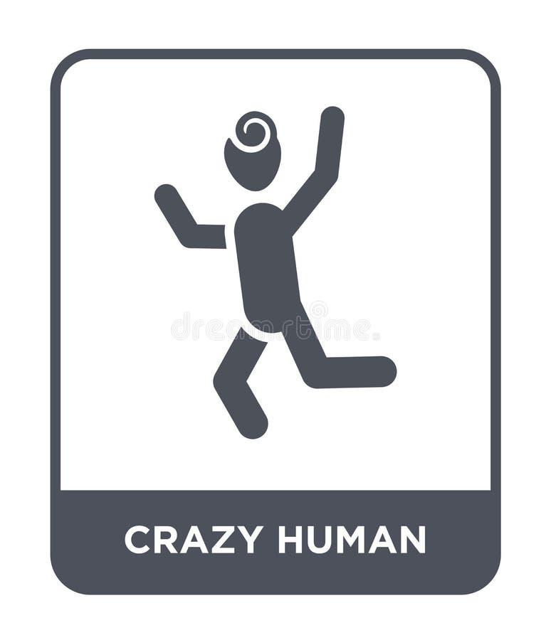 τρελλό ανθρώπινο εικονίδιο στο καθιερώνον τη μόδα ύφος σχεδίου τρελλό ανθρώπινο εικονίδιο που απομονώνεται στο άσπρο υπόβαθρο τρε ελεύθερη απεικόνιση δικαιώματος
