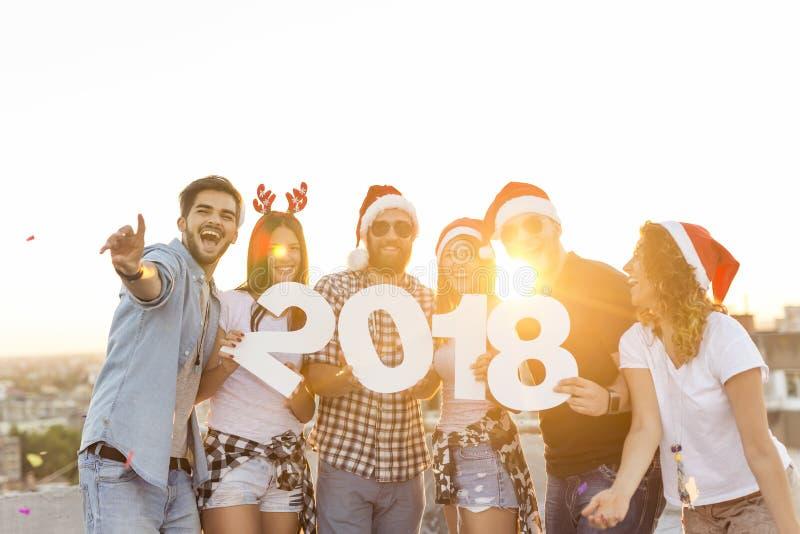 Τρελλό νέο κόμμα έτους στοκ εικόνα