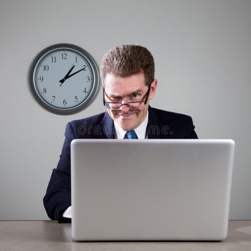 τρελλό lap-top υπολογιστών επ&i στοκ φωτογραφία