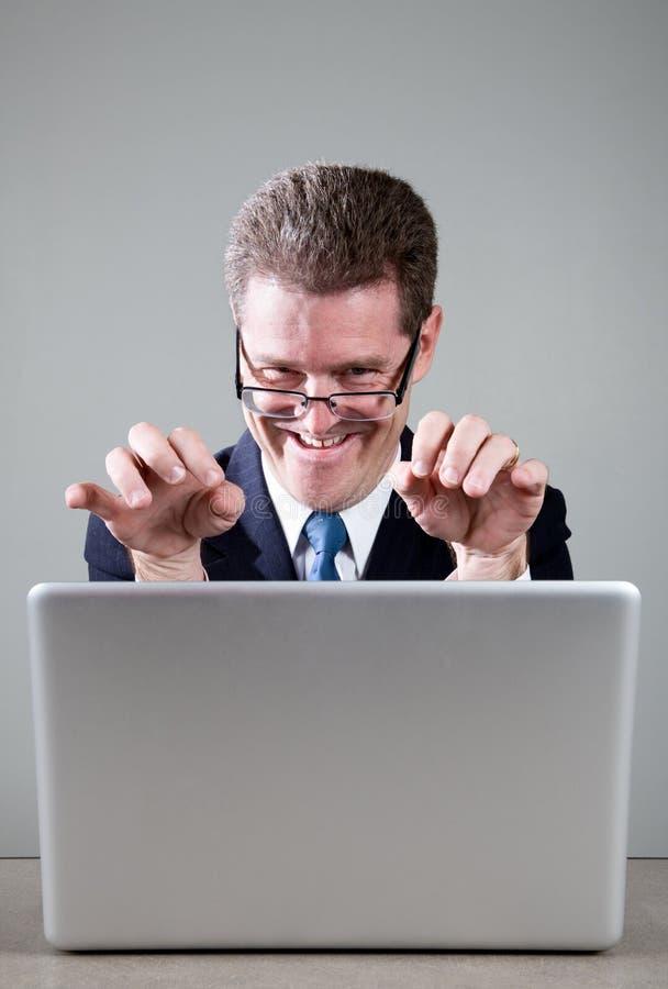 τρελλό lap-top υπολογιστών επ&i στοκ φωτογραφία με δικαίωμα ελεύθερης χρήσης