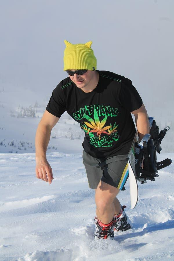 Τρελλό snowboarder υγιείς και ενεργές διακοπές στοκ φωτογραφία με δικαίωμα ελεύθερης χρήσης