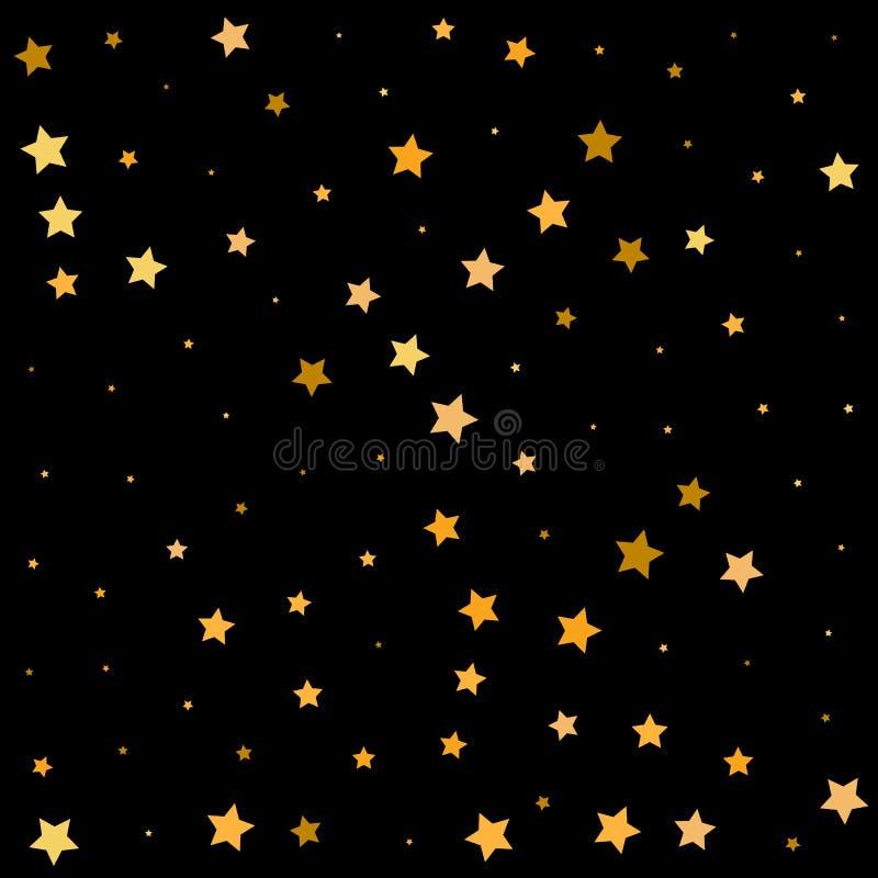 Τρεμούλιασμα αστεριών Νύχτα μαγική Εορτασμός μειωμένα αστέρια - Vektorgrafik ελεύθερη απεικόνιση δικαιώματος