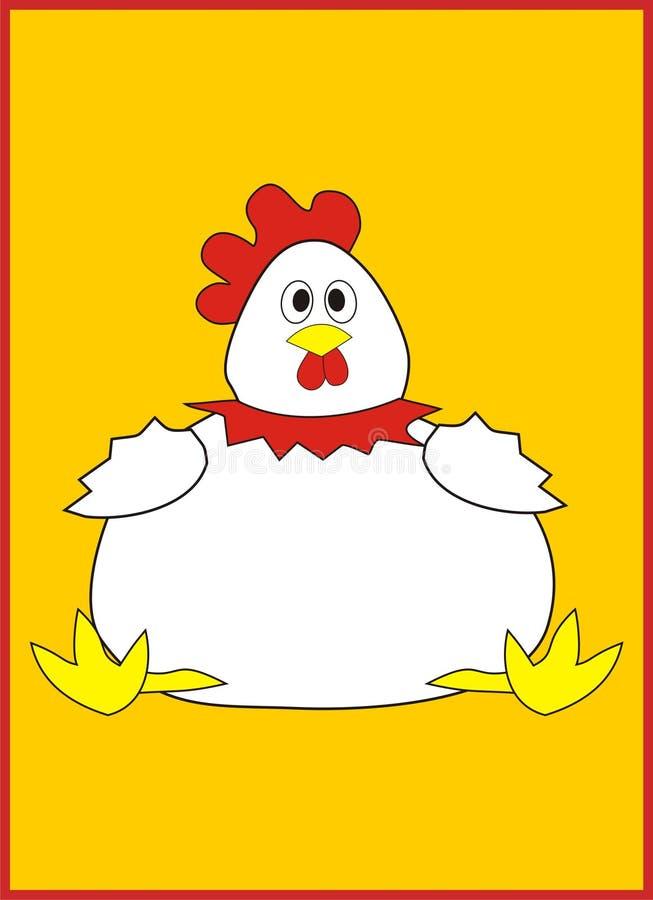 Τρελλή εικόνα κοτόπουλου απεικόνιση αποθεμάτων