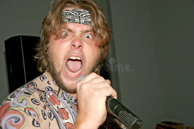 Τρελλός τραγουδιστής στοκ φωτογραφίες με δικαίωμα ελεύθερης χρήσης