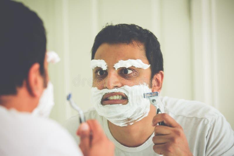 Τρελλό ξύρισμα στοκ εικόνα με δικαίωμα ελεύθερης χρήσης