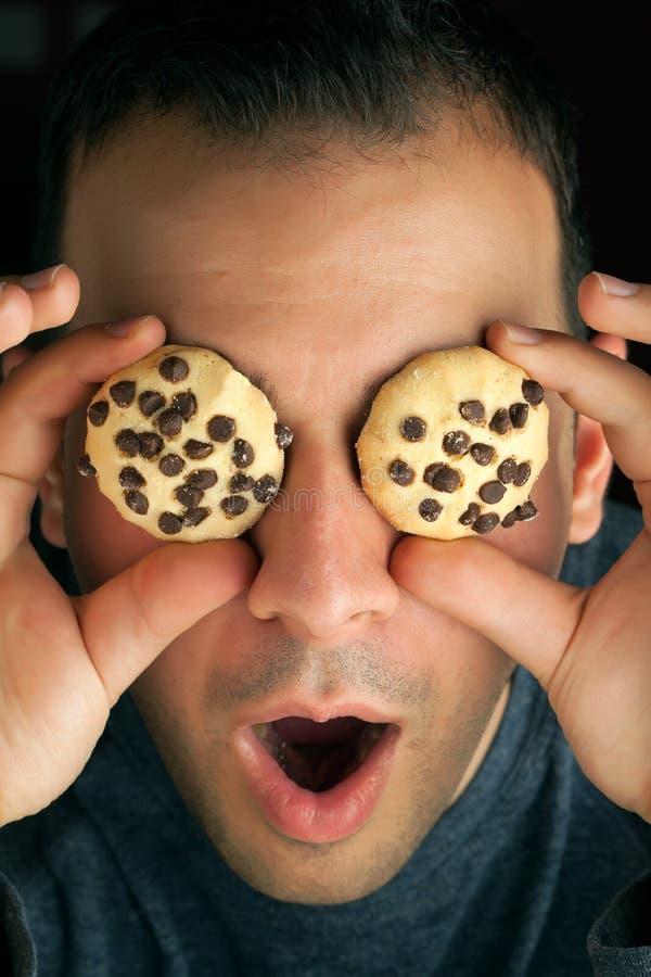 Τρελλό Eyed άτομο μπισκότων στοκ εικόνες με δικαίωμα ελεύθερης χρήσης
