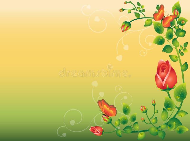 τριαντάφυλλα ανασκόπηση&sigm απεικόνιση αποθεμάτων