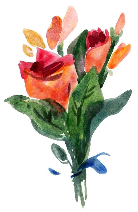 τριαντάφυλλα ανθοδεσμών διανυσματική απεικόνιση