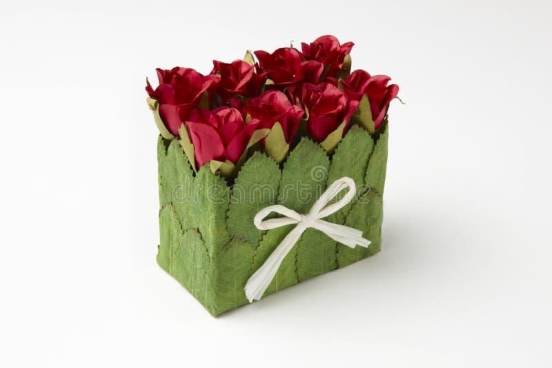 τριαντάφυλλα κιβωτίων στοκ φωτογραφία