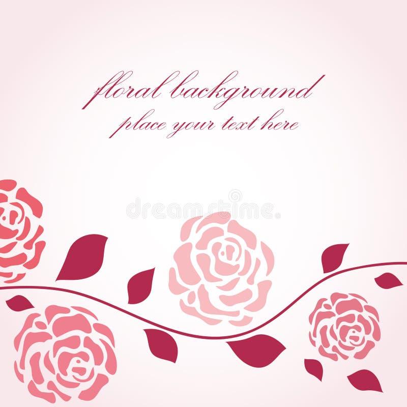 τριαντάφυλλα κλάδων διανυσματική απεικόνιση