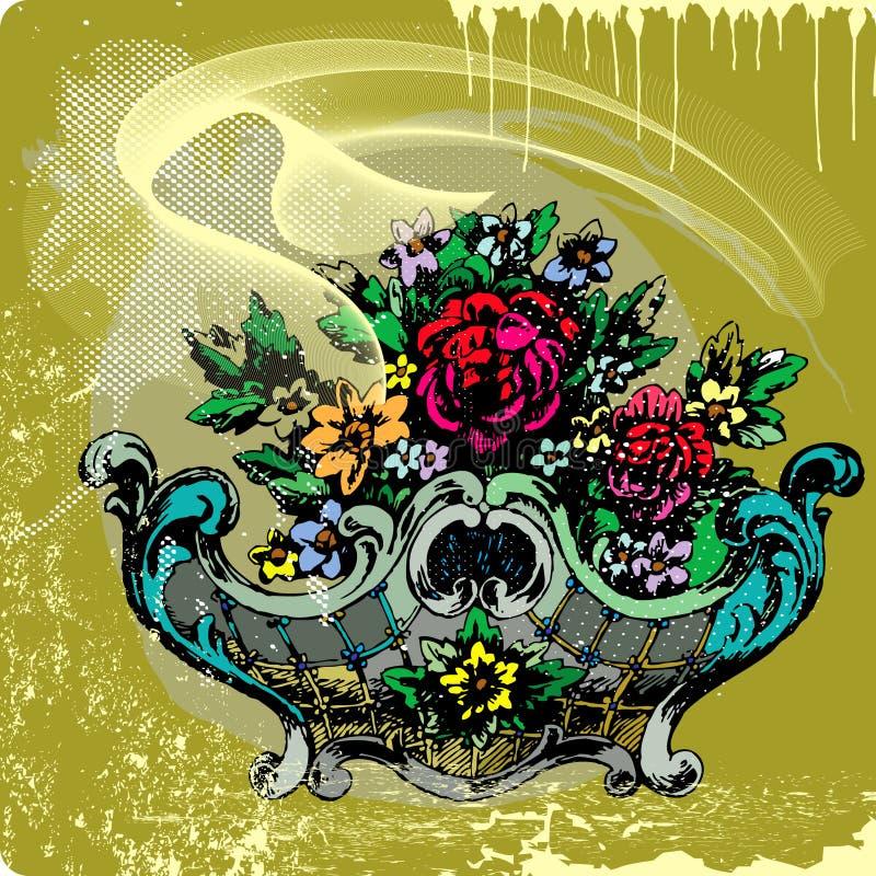 τριαντάφυλλα λουλουδ διανυσματική απεικόνιση
