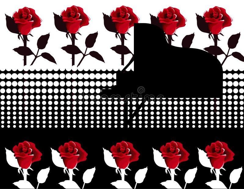 τριαντάφυλλα πιάνων απεικόνιση αποθεμάτων