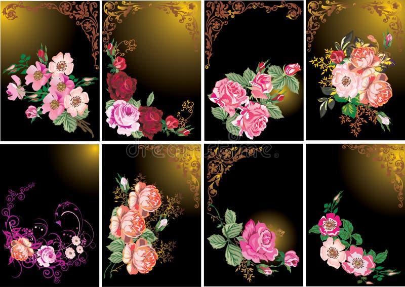 τριαντάφυλλα πλαισίων σ&upsilo απεικόνιση αποθεμάτων