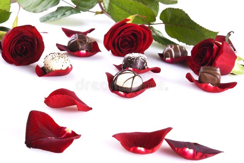 τριαντάφυλλα σοκολατών στοκ εικόνες