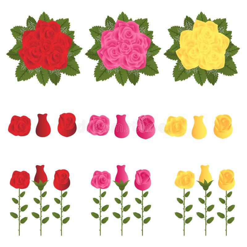 Download τριαντάφυλλα διανυσματική απεικόνιση. εικονογραφία από γραφικός - 22797384
