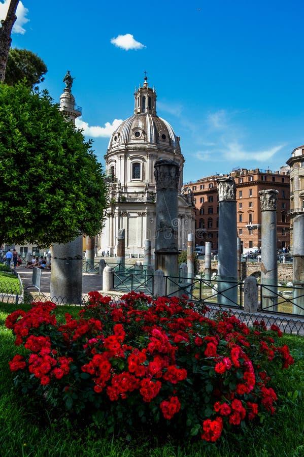 Τριαντάφυλλα από το φόρουμ Romanum στοκ εικόνες