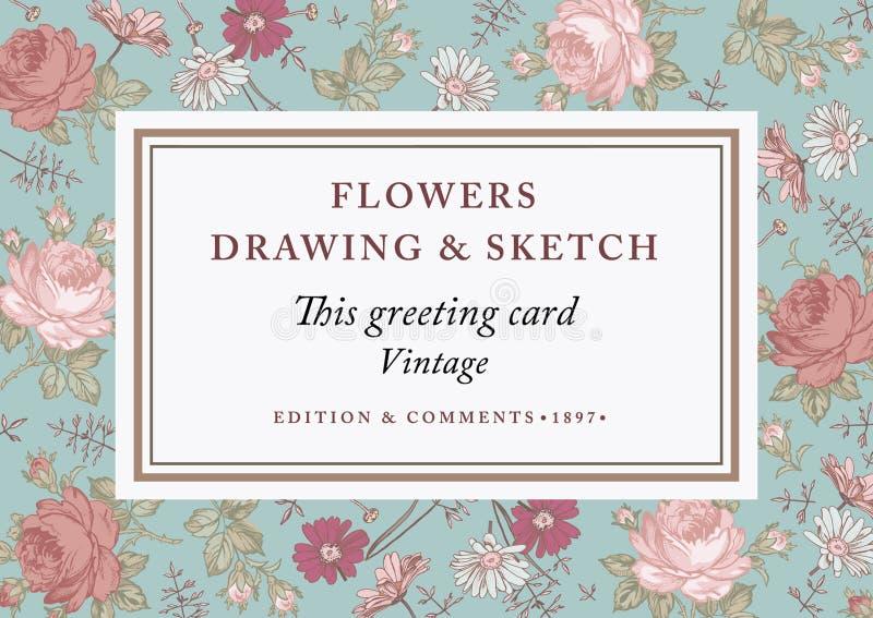 Τριαντάφυλλα, chamomile επίσης corel σύρετε το διάνυσμα απεικόνισης Όμορφα μπαρόκ λουλούδια διανυσματική απεικόνιση