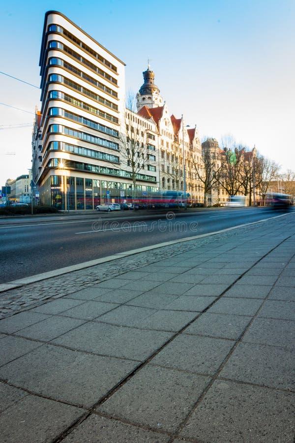Τριγωνική πολυκατοικία στη Λειψία, στοκ φωτογραφίες με δικαίωμα ελεύθερης χρήσης