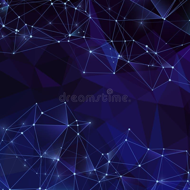 Τριγωνικό αφηρημένο διανυσματικό σκηνικό πολυγώνων Σύγχρονο ψηφιακό υπόβαθρο κρυστάλλων με τη σύσταση διαμαντιών απεικόνιση αποθεμάτων