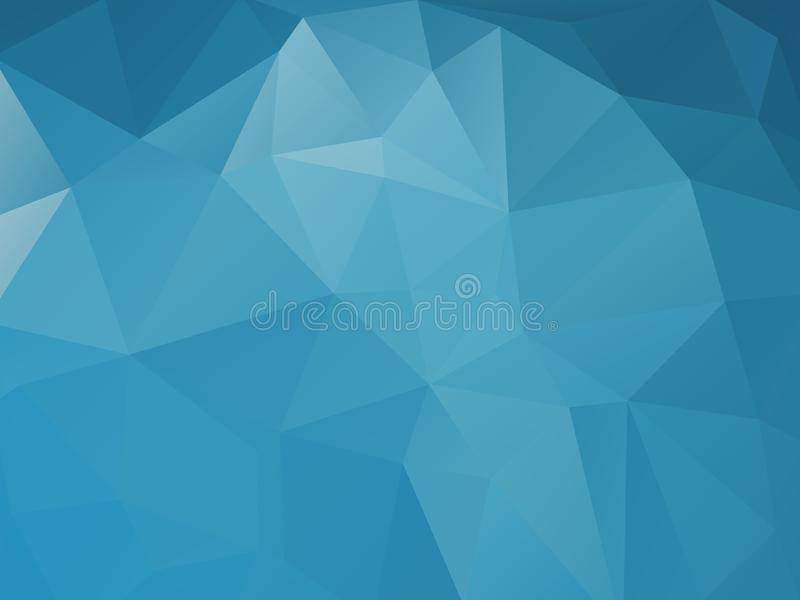 Τριγωνικό μπλε αφηρημένο υπόβαθρο ελεύθερη απεικόνιση δικαιώματος