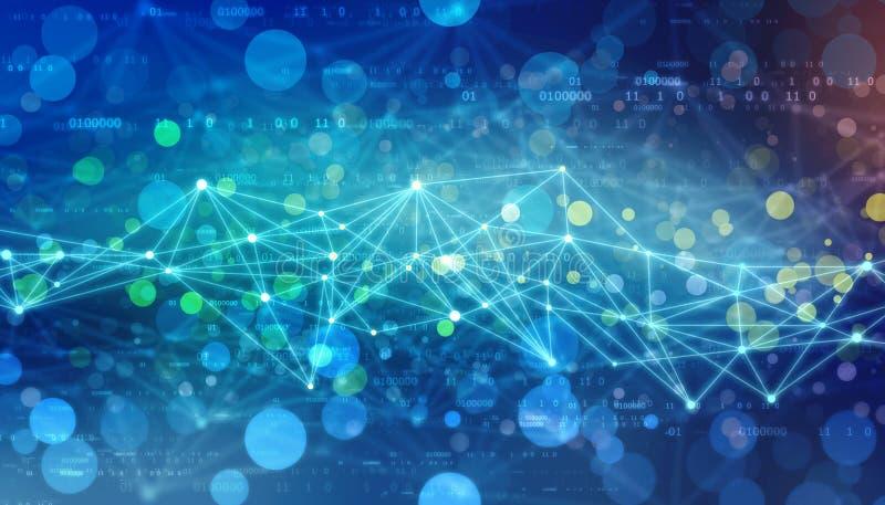 Τριγωνικό υπόβαθρο τεχνολογίας με τις συνδέσεις, υπόβαθρο τεχνολογίας σύνδεσης στο Διαδίκτυο στοκ φωτογραφίες με δικαίωμα ελεύθερης χρήσης