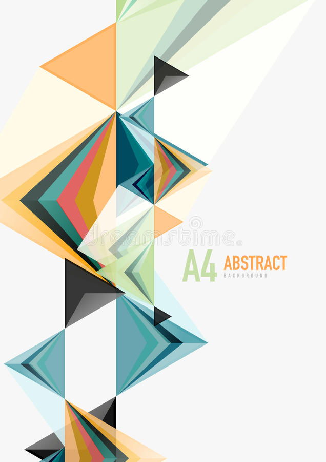 Τριγωνικό χαμηλό πολυ διανυσματικό a4 γεωμετρικό αφηρημένο πρότυπο μεγέθους ελεύθερη απεικόνιση δικαιώματος
