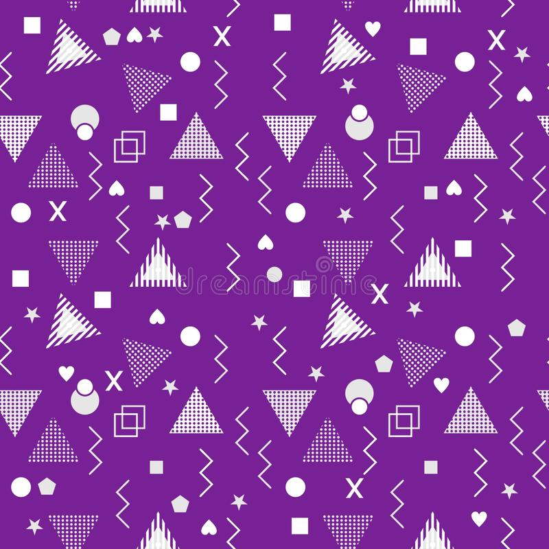 Τριγώνων της Μέμφιδας γεωμετρικές άνευ ραφής αφηρημένες μορφές απεικόνισης σχεδίων διανυσματικές διανυσματική απεικόνιση