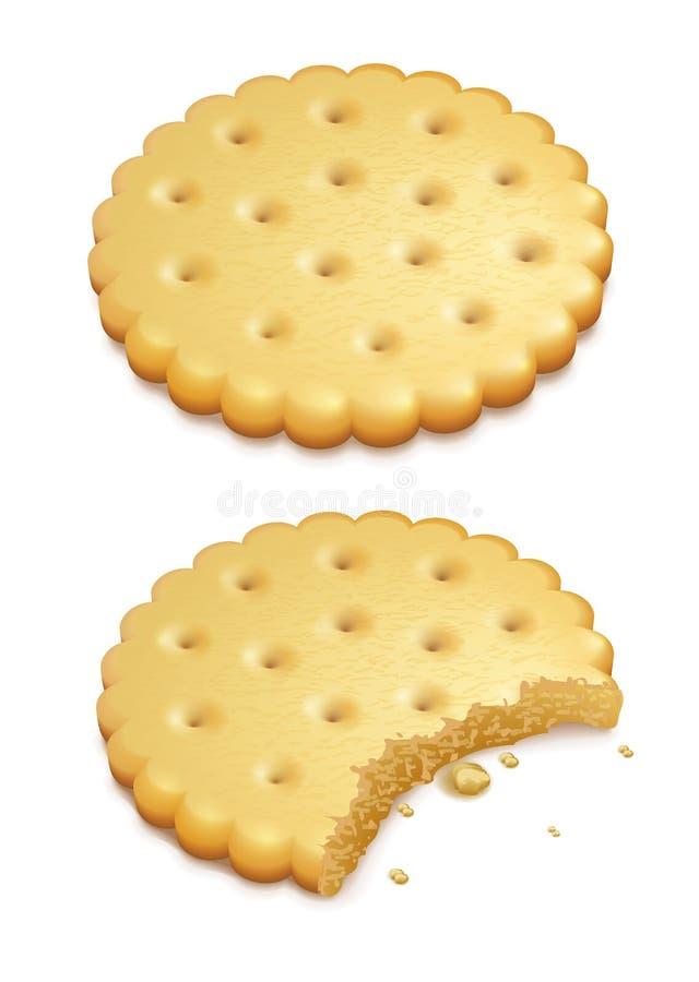 Τριζάτα μπισκότα στο λευκό απεικόνιση αποθεμάτων